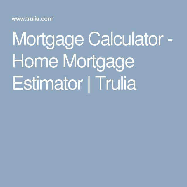 Mortgage Calculator - Home Mortgage Estimator | Trulia