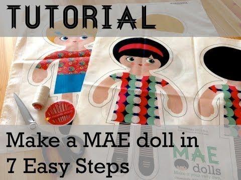 MAE Dolls Video Tutorial: Make a MAE doll in 7 Easy Steps