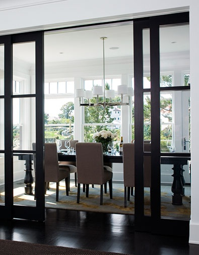 Love The Sliding Glass Doors Contemporary Dining Room By LDa Architecture Interiors