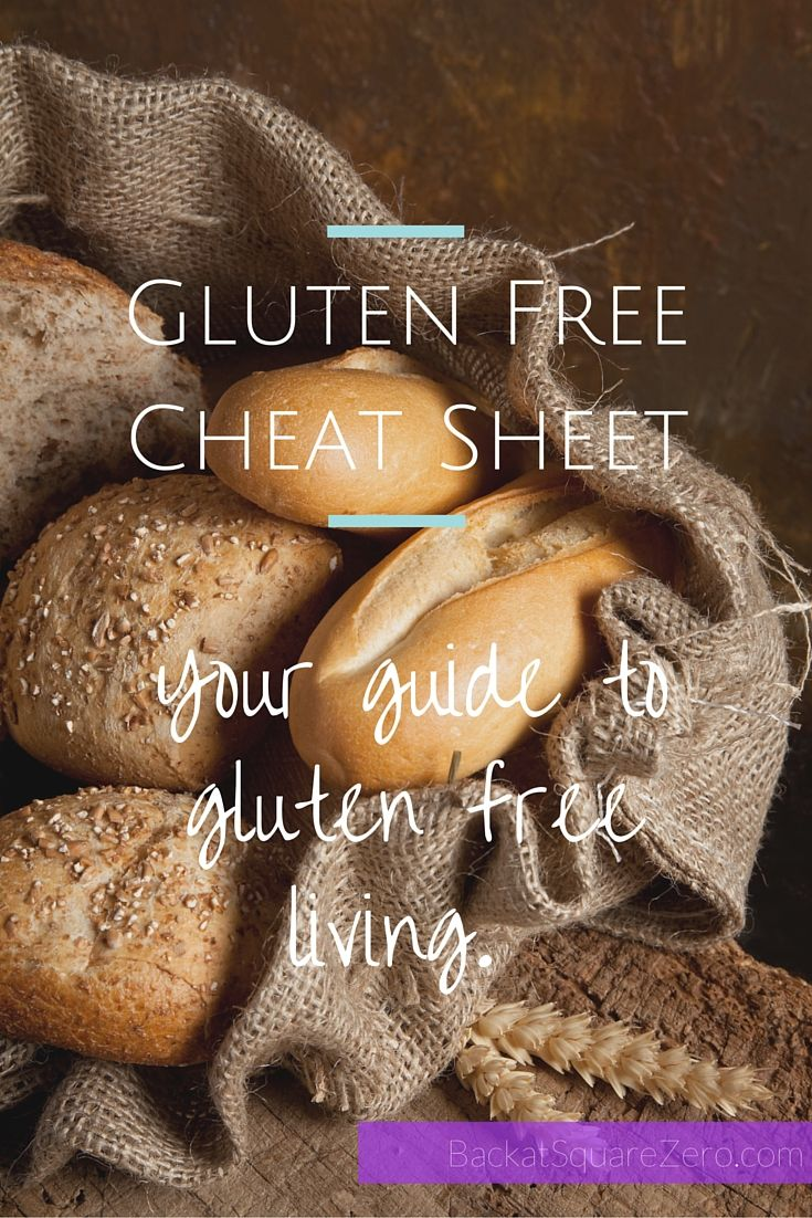 Gluten Free Cheat Sheet: Carry this in your purse, check it before you go, use it to plan - you'll be in the gluten free know.