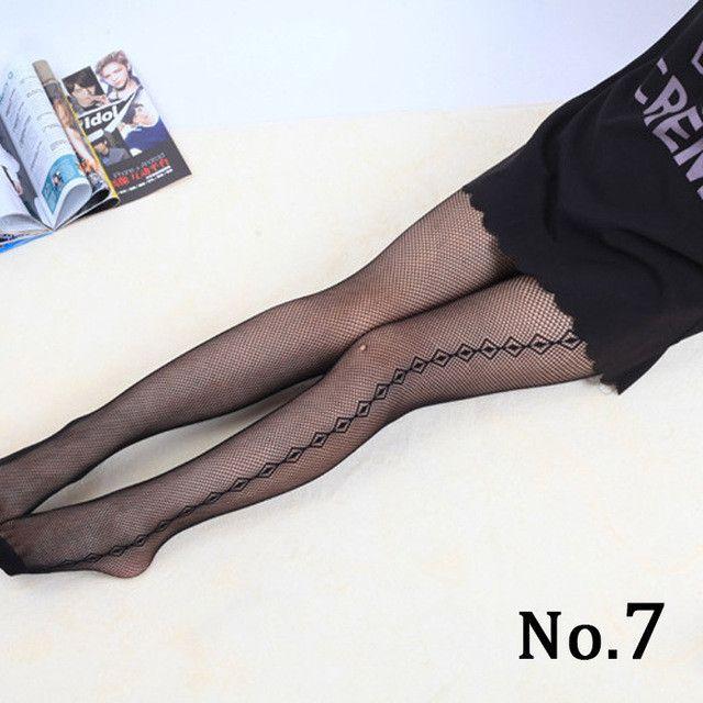 Jacquard soft sexy Silk Stockings Mesh Sexy Black Leggings Pantyhose Body Stovepipe Fishnet fancy lingeries night club Stockings