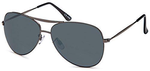 """moderne Sonnenbrille """"Caen"""" mit verspiegelten Gläsern für schmale Gesichter+ Brillenbeutel- Damen und Herren"""