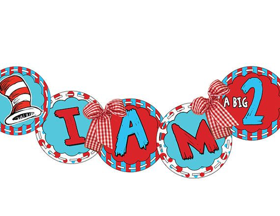 Dr Seuss Printable Birthday Banner by PartyMakeover on Etsy, $12.00