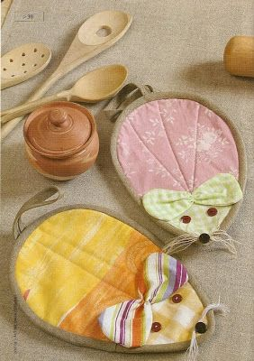 Agarradores para la cocina con moldes : cositasconmesh