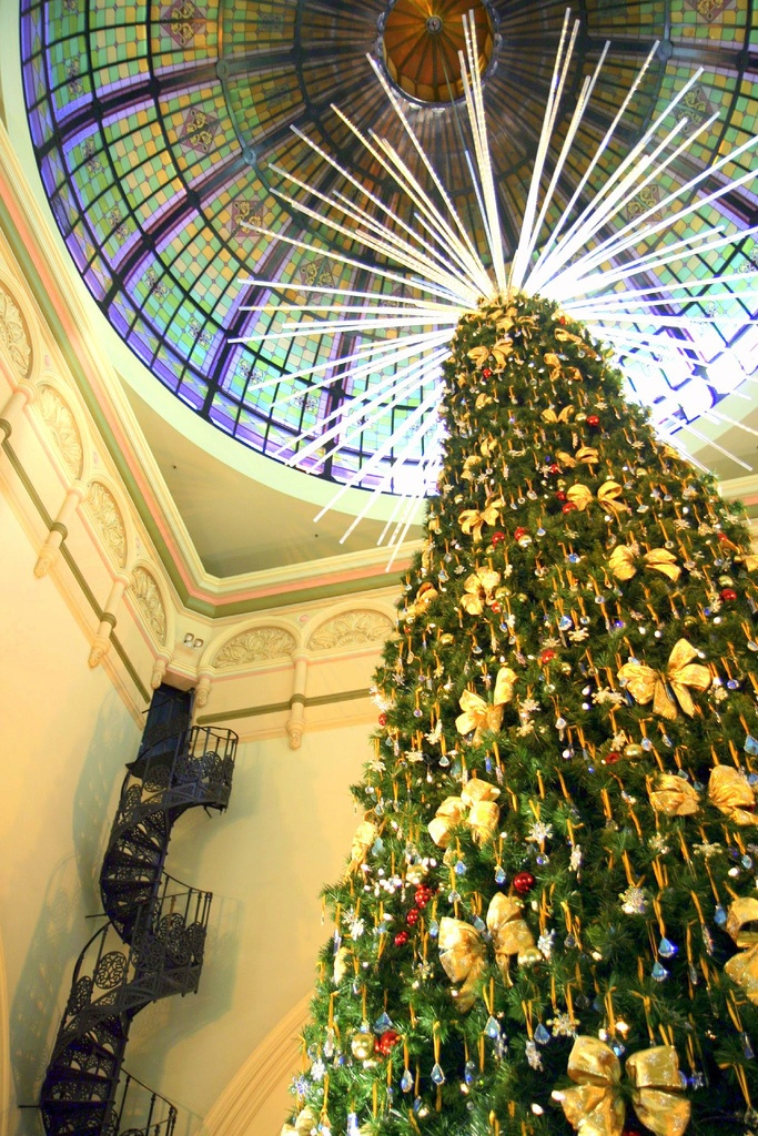 Christmas Tree In The Queen Victoria Building On George Street, Sydney,  Australia