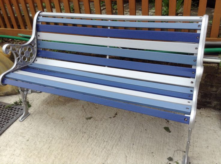 24 best images about ideas for painting bench on pinterest for Painted outdoor benches