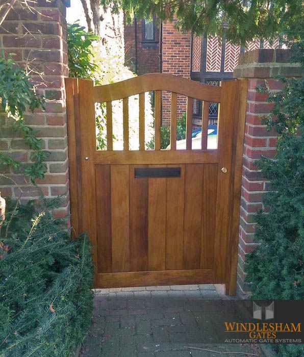 Wooden Side Gate With Integrated Letter Box Woodensidegate