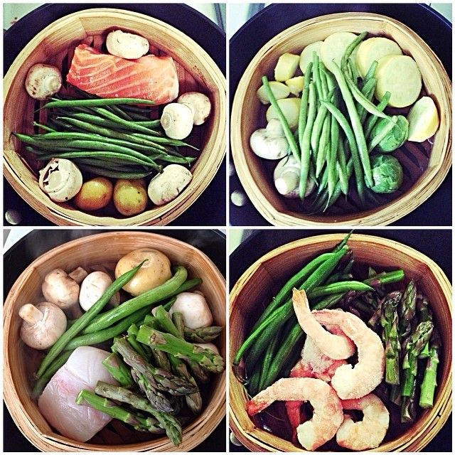 Steam it! This Rise user made 4 different dishes using his Bamboo steamer.