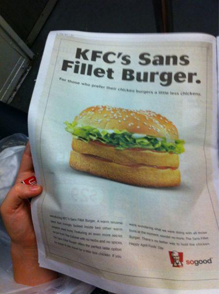 KFC: Fools Fun, April Kikker, April Fools Day