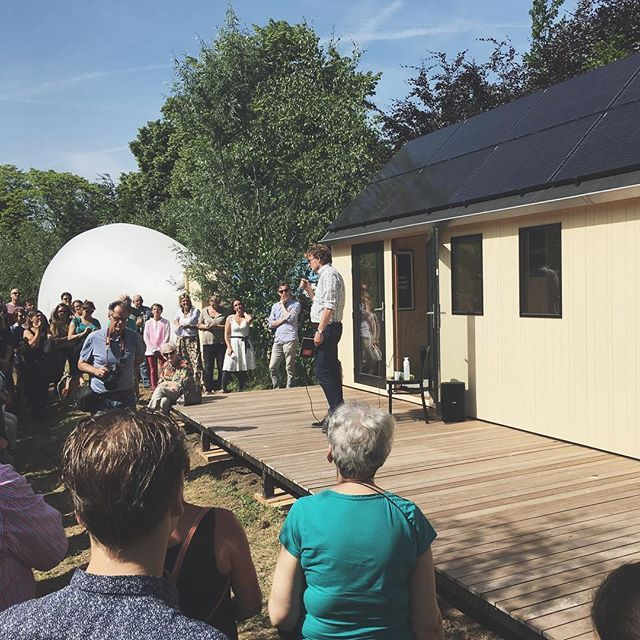 The kick-off of 'minitopia' droomstad Den Bosch. Check out our Duo Tiny House! #droomstaddenbosch #minitopia #checkitout #tinyhouse #millhome