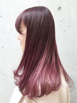 Brown hair with a light magenta undertone and underlights | SHIMA