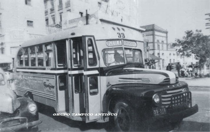 Autobuses Azules en 1951 Ruta AGUILA-CEMENTERIO