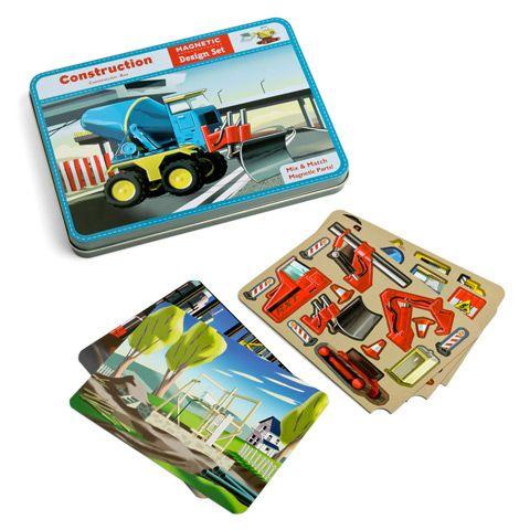 Magnetyczne konstrukcje - pojazdy, to pomysłowa i przenośna zabawka, dzięki której maluch stworzą różne auta.