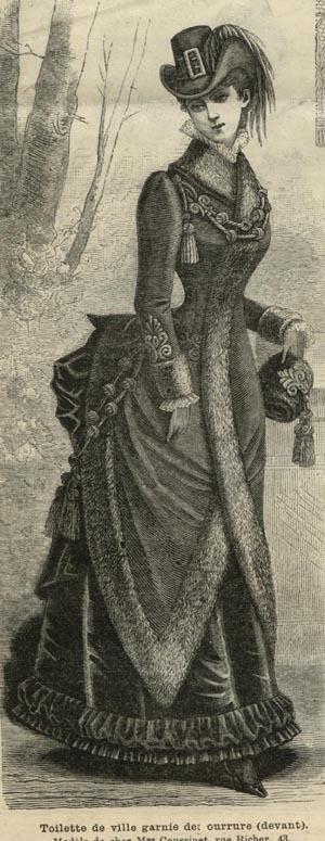 MODE ILLUSTREE PATTERN Jan 7,1883- TOILETTE DE VILLE