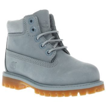 Timberland Pale Blue 6 Inch Premium Unisex Toddler Tiny trendsetters can look as cool as the grown-ups, as Timberland downsize their iconic 6 Inch Premium boot for kids. Crafted in pale blue nubuck, the upper features a tonal padded ankle cuff, sittin http://www.MightGet.com/january-2017-13/timberland-pale-blue-6-inch-premium-unisex-toddler.asp