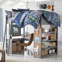 sturdy stylish and fun to decorate our greenguard gold certified sleep study loft bed has everything you need in one charming package