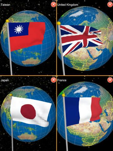 Chien-Yuan Chen | Education | iPad | Globe - Earth Seasons $0.00 | ver.2.0| $0.99 | $$$$$$ LIMITED TIME FREE $$$$$$249 countries (by ISO 3166-1) and 50 states of USA in this app. Easy to play Globe by gesture control. Double-taps to ...