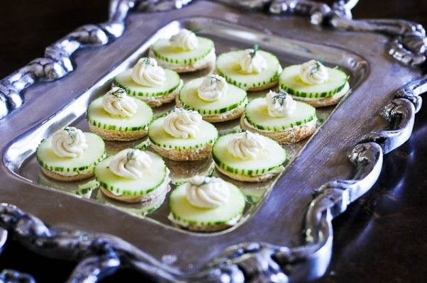 Cucumber tea sandwiches make a classic appetizer when entertaining or for showers, brunches and parties.
