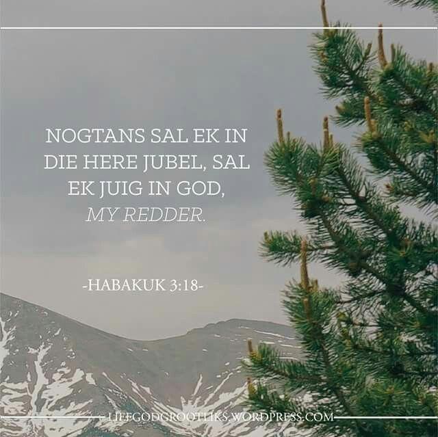 Jy Is Vergewe  - Die Vrug van Vergifnis – Liefde en Vreugde - Week 7 - Vrydag – Vandag se Verse - Habakuk 3:17-19   Spandeer tyd in God se Woord en vra Hom biddend om vir jou 'n hernuwe sin van verwondering te gee van jou vergifnis en lewe in Christus.