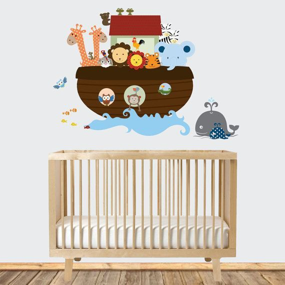 This listing is for a Noahs Ark theme decal set, all you get is the die cut stickers.    { Decal Kit Includes }    *Ark  *Water splash  *5 fish  *2