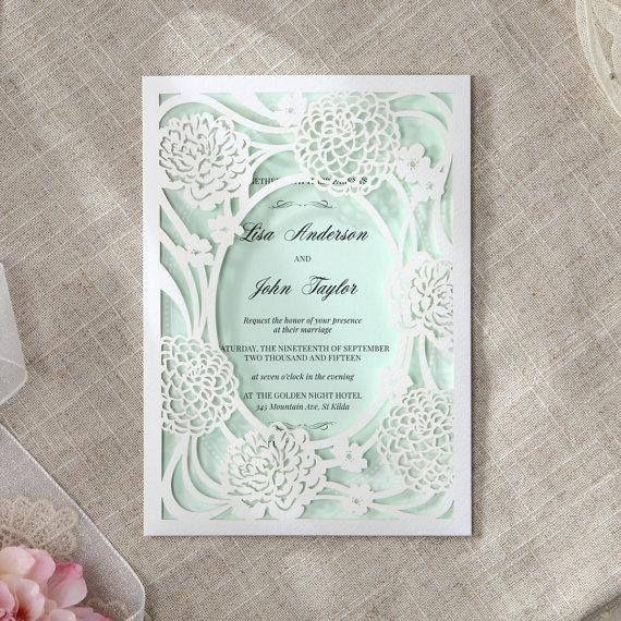 135 best laser cut wedding invitations images on pinterest for Laser cut wedding invitations minted