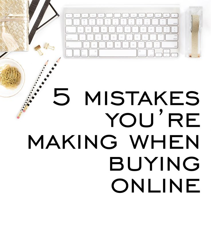 More people are being turned off online shopping because they are making some simple mistakes. Here's what they are and how to avoid them.