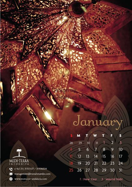 Our January 2015 calendar