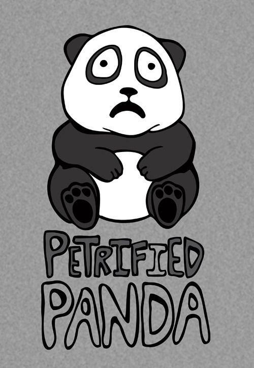 petrified panda t shirt design panda tshirt design