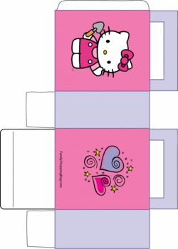 Hello Kitty Favor Box, Hello Kitty, Favor Box - Free Printable Ideas from Family Shoppingbag.com
