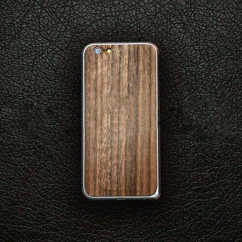 iPhone 6 Wood Cover + Aluminium Bumper in Walnut by Bamboo & Wood