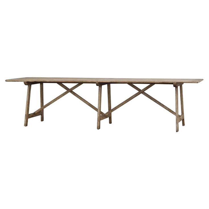 Hooper Lodge Cross Base Rustic Wood Dining Table | Kathy Kuo Home