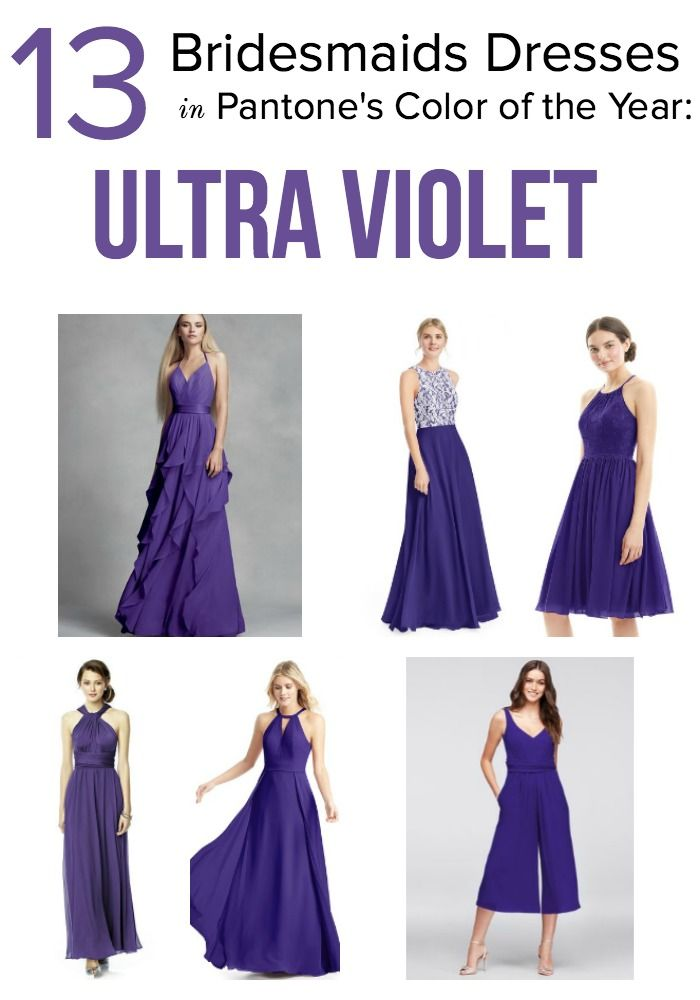 Trend Alert! #Pantone has announced their 2018 Color of the Year: Ultra Violet! We rounded up our favorite #bridesmaid dresses in the regal hue. #weddingtrend #coloroftheyear #ultraviolet #trendalert #bridesmaiddresses #bridesmaidstyle #2018wedding