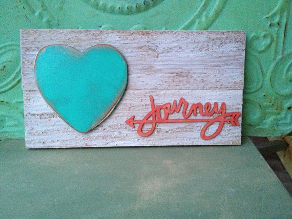 Journey Pallet Board Sign Rustic Heart Home by SassySouthernCharm