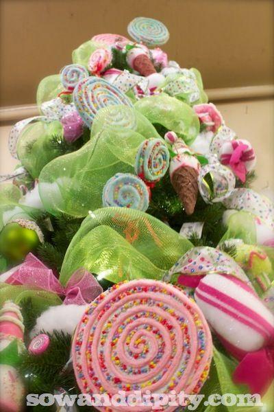 Candyland Christmas, 10 Cool DIY Christmas Decor Ideas - Sow & Dipity #christmastree
