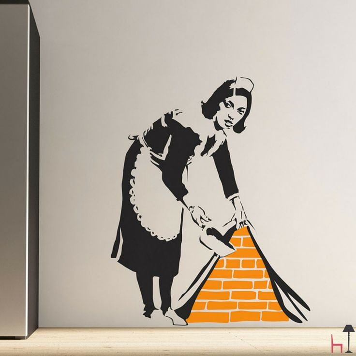 Perfect for plain white walls, this wall sticker creates a 3D illusion of the bricks being exposed behind the paper.
