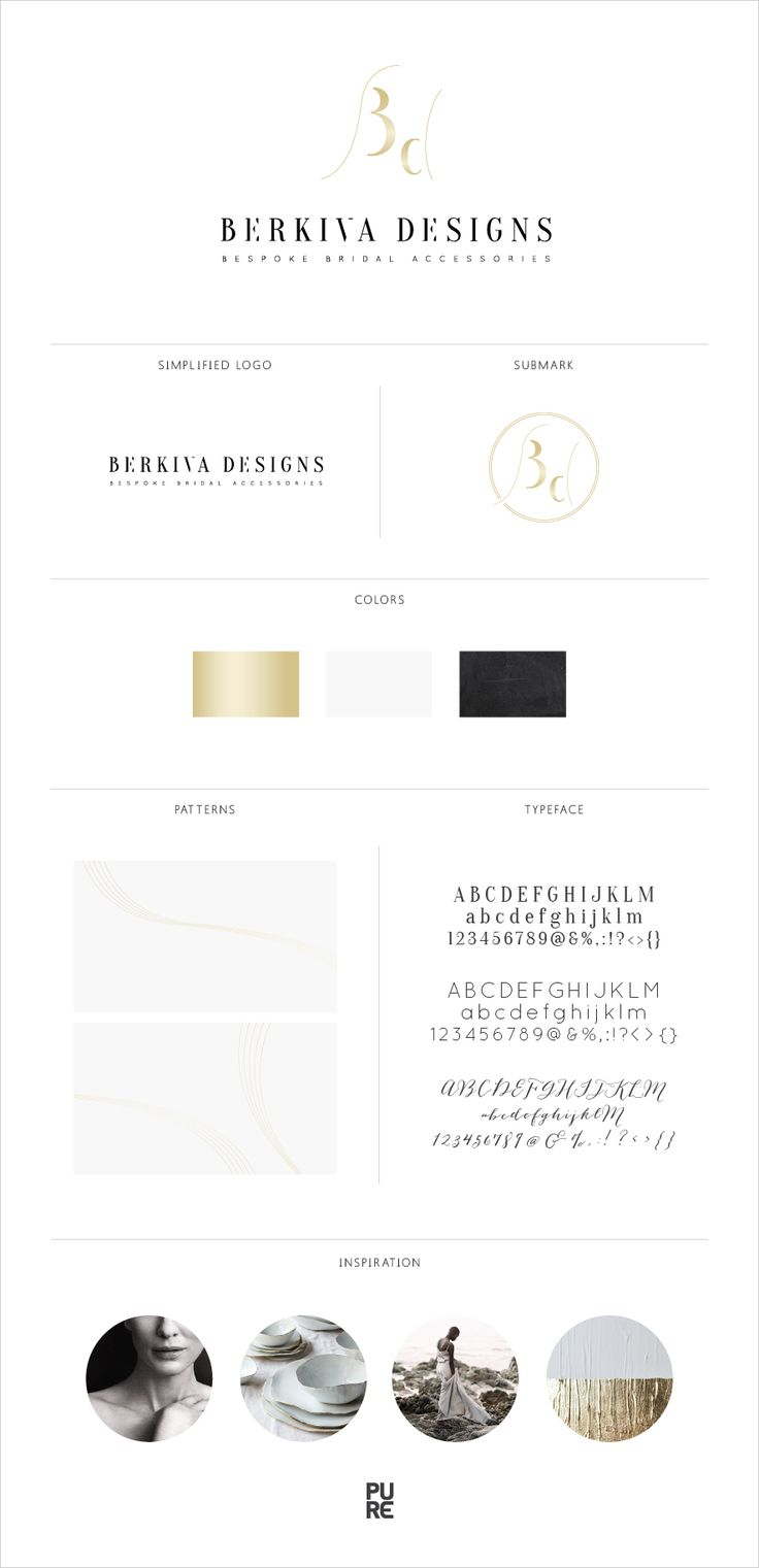 Brand Launch: Berkiva Designs | Brand design by PURE Art & Design | Classic | Gold | Monogram
