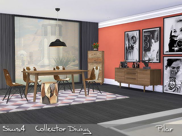 Mix Of Styles Current Furniture A Vintage Note And An Exotic Touch Found In TSR Category Sims 4 Dining Room Sets Source Pilars Collector