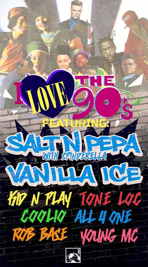 Salt-N-Pepa, Vanilla Ice, Coolio & more team up for I Love the 90s tour running sporadically from February to September 2016.