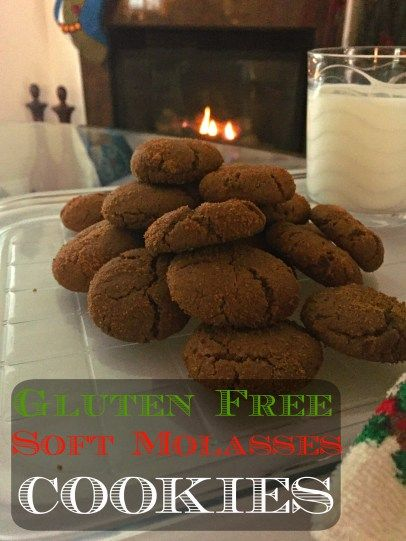 gluten free soft molasses cookies a great Christmas cookie that has ...