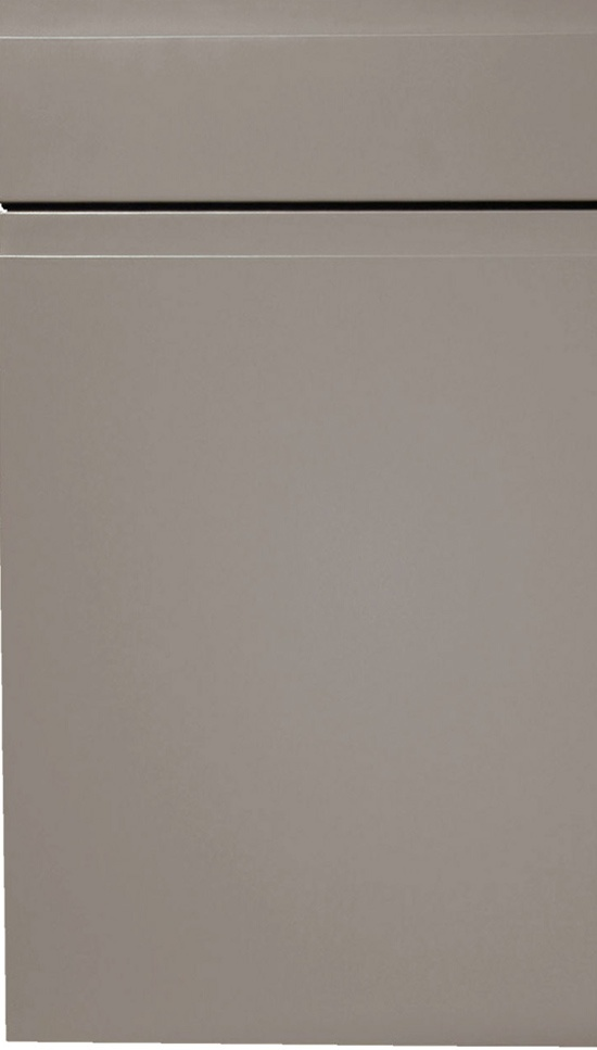 Handleless kitchen doors in a matt painted finish. In ANY colour.