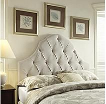 Lawson Tufted Fabric Headboard - Full/Queen