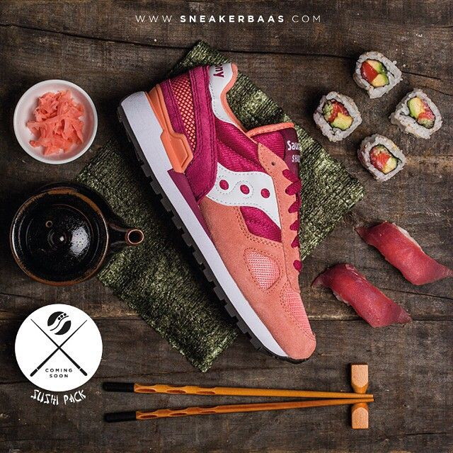 #saucony #sauconyorigs #sneakerbaas #baasbovenbaas  Saucony went to Japan for inspiration and came up with this new Sushi Pack. Three new editions, that consist of two Shadow original designs and a Shadow 5000, gave been given colorways with typical Sushi hints. Coming soon on sneakerbaas.com!