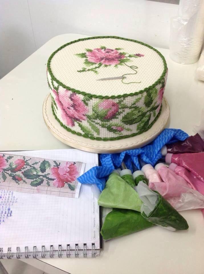 Cross Stitch Cake by Ana Elisa Salinas