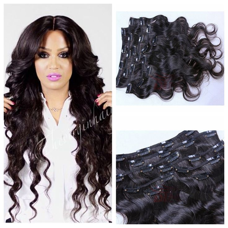 91 best clip in human hair extension images on pinterest wigs clip in human hair extensions brazilian body wave full head clip in virgin hair extension natural pmusecretfo Images