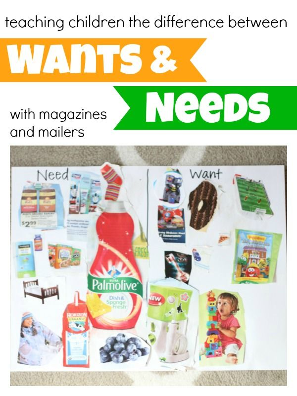 Teaching Children the Difference Between Wants and Needs using all those holiday mailers!