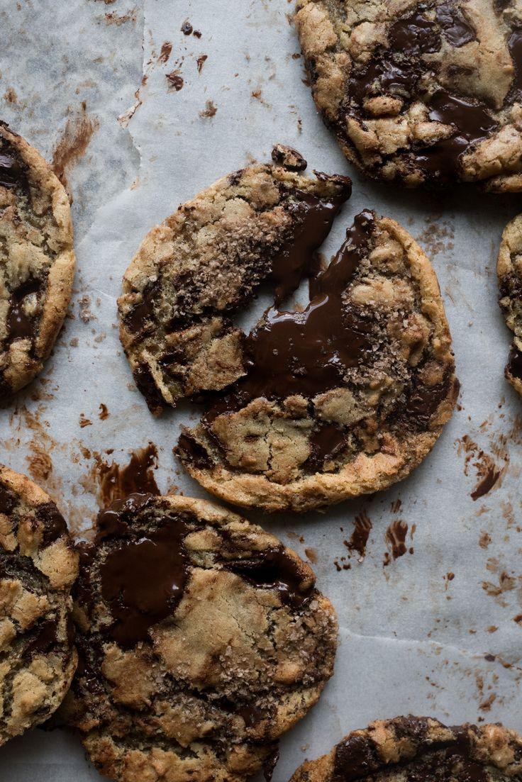 Smoked Tahini Dark Chocolate Chunk Cookies /