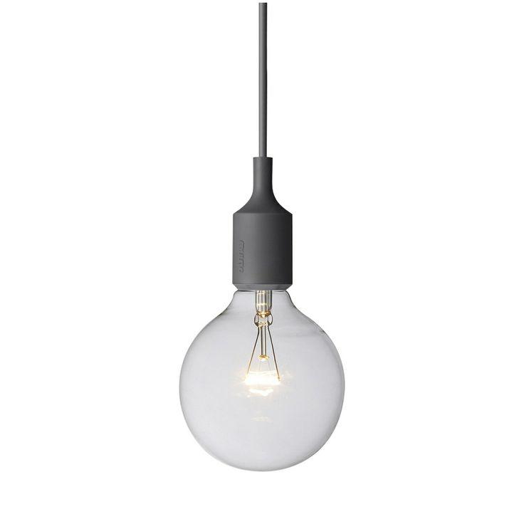 Muuto E27 lampe grå