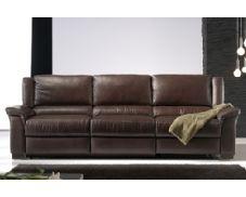 Le presentamos este bonito y confortable sofá de tres plazas. Disfrute de la amplitud y confort que este sofá tapizado en piel natural le ofrece. Shiito, tienda especialista en sofás y muebles de descanso.