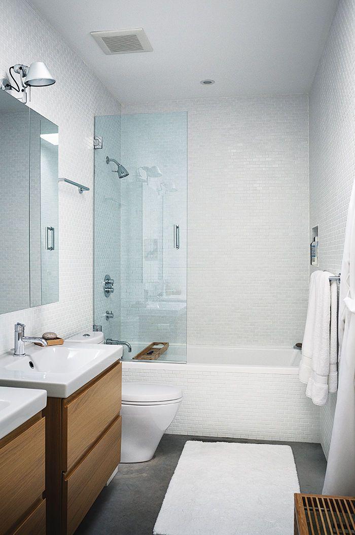 ontario vacation home master bathroom with ikea vanities