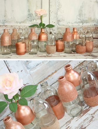 DIY Wedding Vases -- Buy the entire set is $60!